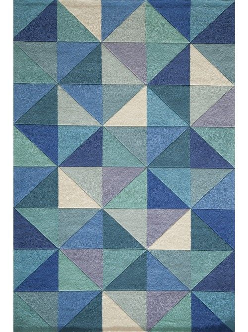 An array of perfectly placed triangles on our Clarin Rug, bring visual interest and vibrant color to your room.