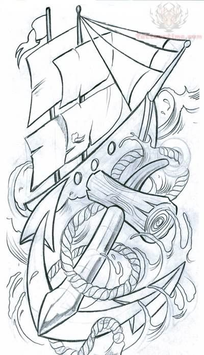 Octopus And Anchor Tattoo Designs Ship And Anchor Tattoo Designs