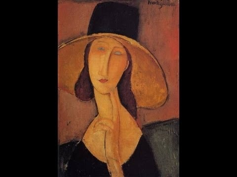 Modigliani Art For Kids - Painting Jeanne Hebuterne With Large Hat | Mugglesam