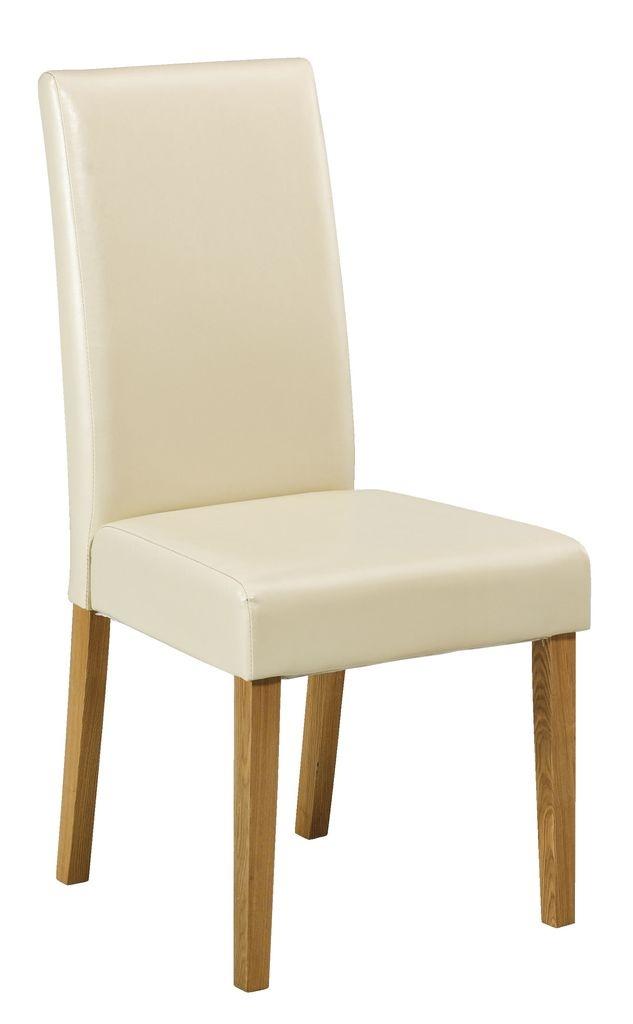 Krzesło FLORIA skóra ekologiczna biała w JYSK.
