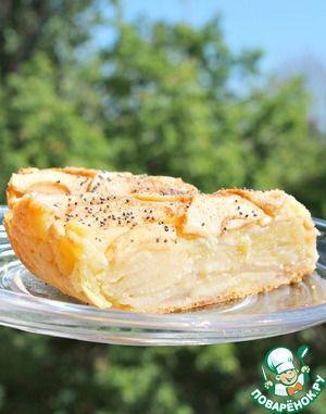 """Яблочно-творожный пирог """"Оборванец"""" - кулинарный рецепт"""