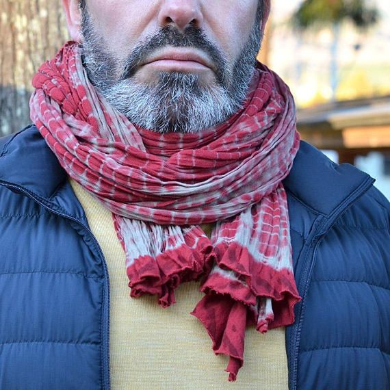Long scarf. Japanese craft. Made in Japan. Mens scarves.