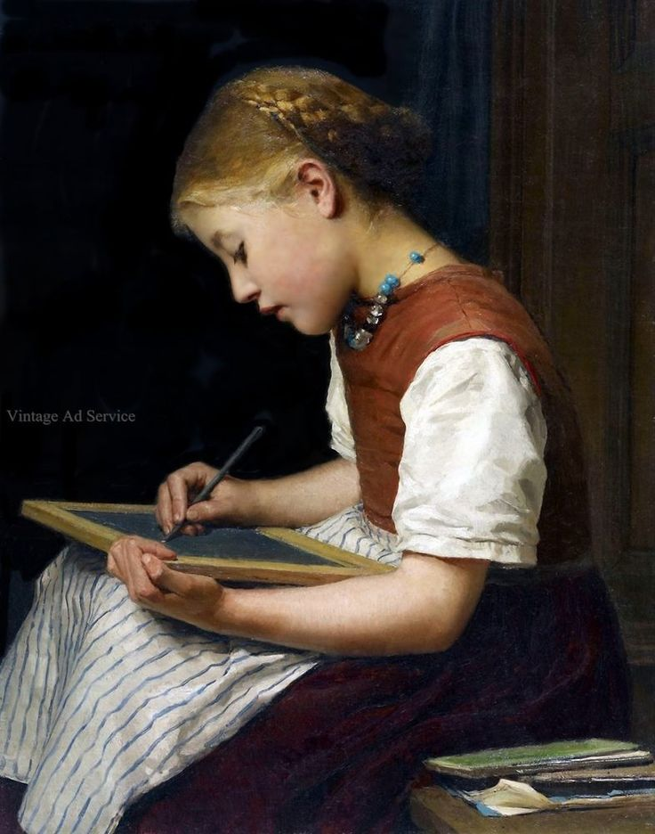Schoolgirl with Homework by Swiss Artist Albert Anker. Canvas Art Print. 11x14 | Art, Art from Dealers & Resellers, Prints | eBay!