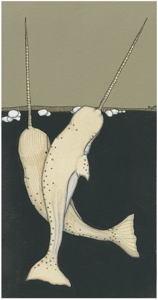 Narwhal print by Christopher Myott - perfect color palate for our new livingroom!!!