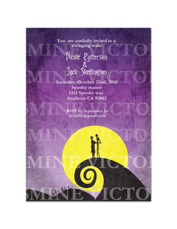 how to make wedding invitation card in microsoft word007%0A Nightmare Digital File Invitation by JasmineVictoria on Etsy  https   www etsy