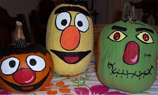 painted pumpkin faces pictures - Google Search