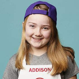 I was praying and praying and finally a girl one master chef jr better yet she is the same age same name and she likes hats this is so funny