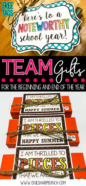 Get ready for back to school with these adorable team gifts!  Simply print the…
