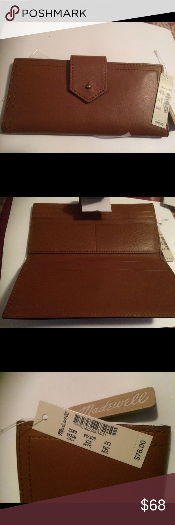 Madewell Brown Leather Wallet NWT Madewell Brown Leather Wallet New with  tags. Madewell Bags Wallets