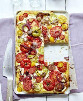 Tomaten-Blechkuchen - Herzhafte Gerichte für den Sommer - [LIVING AT HOME]