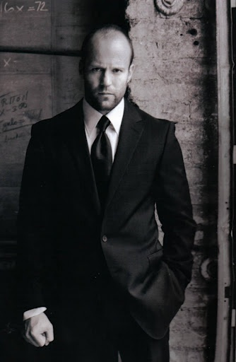 Jason Statham - certified badass. Who say's you have to have hair! hottie.