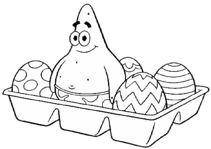 spongebob ostern ausmalbild malvorlage gratis