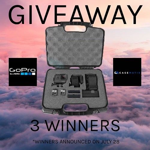 @casematix is giving away 3 GoPro cases to 3 lucky adventurers!  To enter: 1. Follow @casematix 2. Like this post 3. Tag 3 friends below this post Good luck! #casematix 🤙🏻