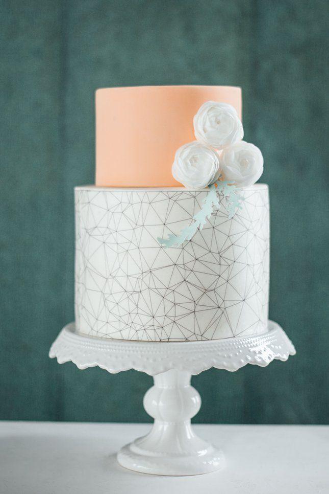BAKED // modern wedding cake