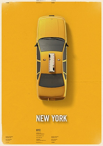 Yellow Cab City Poster by antrepo, via Flickr