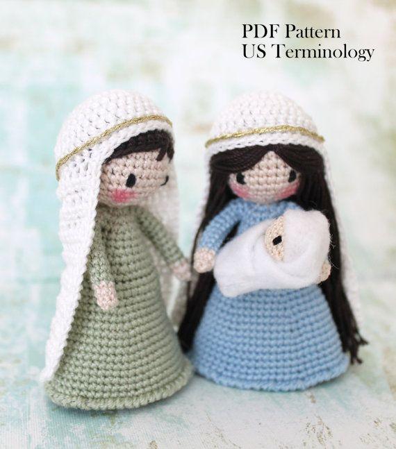 Crochet Nativity, Nativity PATTERN, Crochet Amigurumi, Waldorf Inspired, Holly Family, Crochet Tutorial, NEW RELEASE Sale (Save 1.50)
