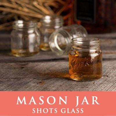 画像2: メイソンジャーショットグラス ウイスキーやウォッカに Mason jar  ショットグラス クリア