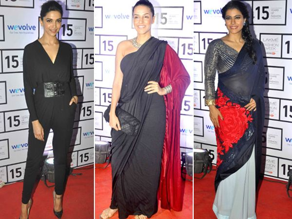 Lakme Fashion Week Summer-Resort 2015 has been a star-studded affair right from opening night. From front row seats to the ramp, Bollywood celebrities have been spotted everywhere dressed in their favourite designers and looking as dazzling as ever. Take a look at the stars we caught on camera. Image courtesy: BCCL/Facebook Don't Miss! Bollywood Celebrities at the Sabyasachi Curtain Raiser