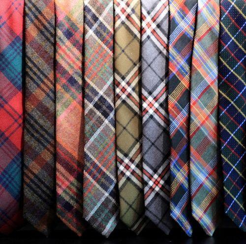 The wool plaid ties collection from Lander Urquijo / Una muestra de la coleccion de corbatas de lana y cuadros de Lander Urquijo