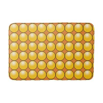 Yellow Color Ball Brown Medium Bath Mat - family gifts love personalize gift ideas diy