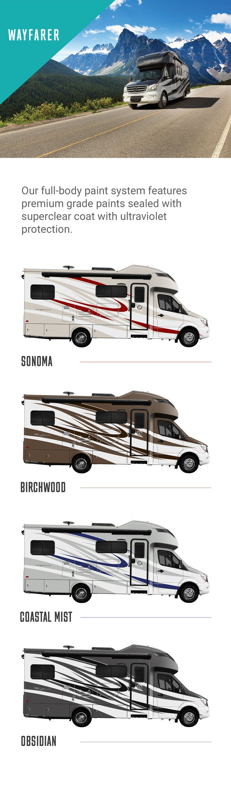 The Tiffin Wayfarer has plenty of options for the Class C RV traveler.