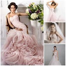 Картинки по запросу бело-розовые свадебные платья