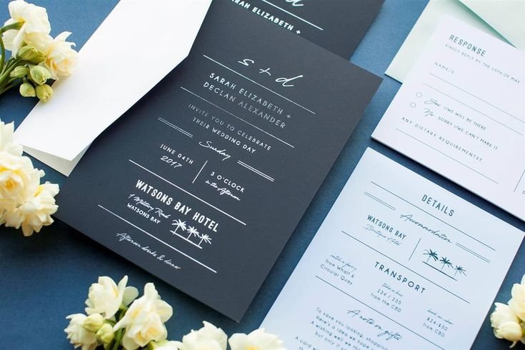 We created this invitation suite especially for winter beach weddings #watsonsbayhotel #watsonsbay #weddingset #navyblue #design #weddinginvitation #paperlust #foil #silver #paperlust #illustration #stationery #weddingstationery #weddingset