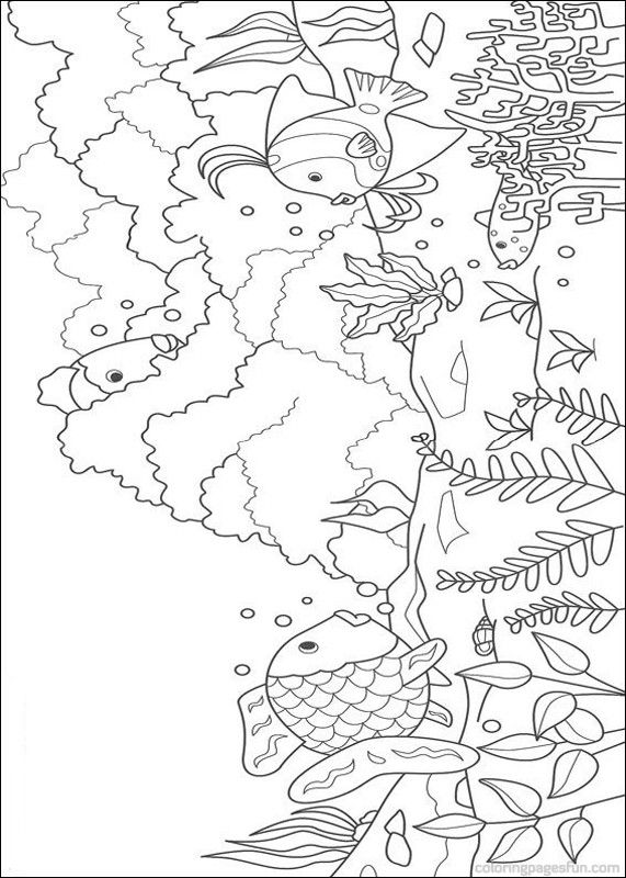 Rainbow Fish Colouring Page Coloring Pages Pinterest Rainbow