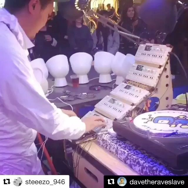 The BentoBox OP-1 Modular Stand we designed in collaboration with @steeezo_946 between Sicily and Japan, made a quick come back to Italy, for the Milan Design Week @milan.design.week So nice to see it in action there 😊👍🏻 You can read more about the BentoBox project on Cremacaffè Design Blog: http://cremacaffedesign.com/blog/  #Repost @steeezo_946 ・・・ #regram @davetheraveslave ・・・ @steeezo_946 pro-am beats at #milandesignweek @teenageengineering