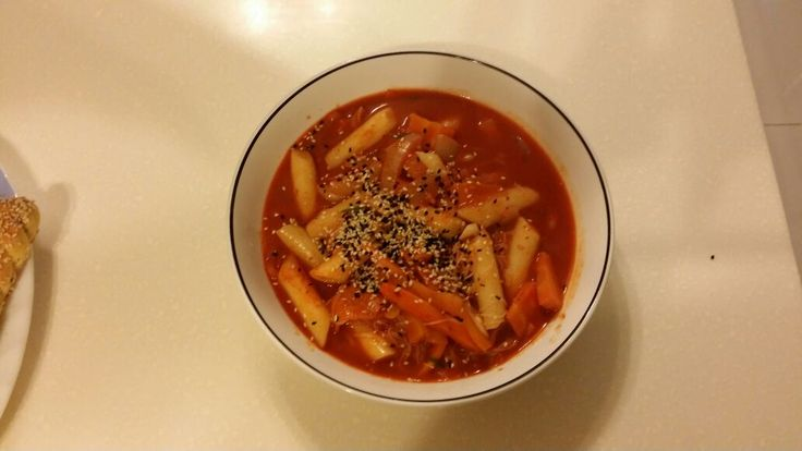 Toppoki . The first Korean food that i cooked