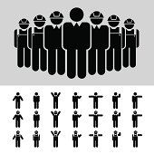 Business Man Architect Engineer Worker Icon Set Vector Art 453005743 | Thinkstock
