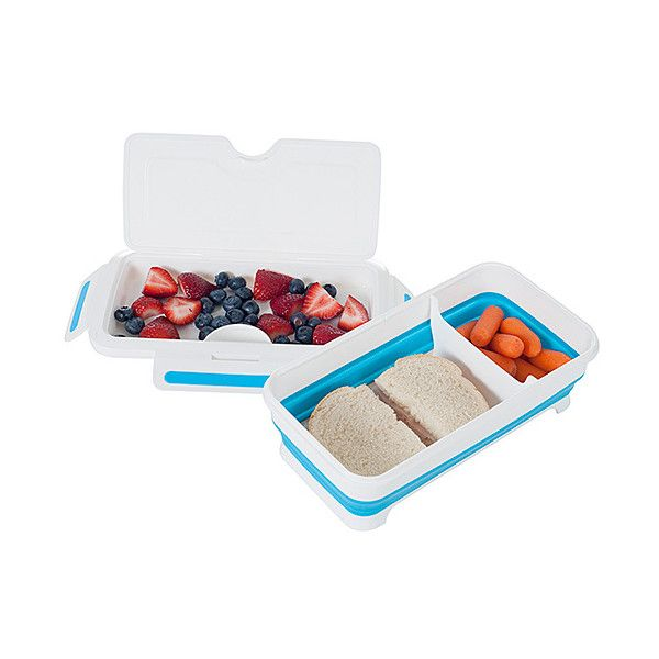 Trademark Global Expandable Lunch Box With Dividers ($6.99) ❤ liked on Polyvore featuring home, kitchen & dining, food storage containers, plastic lunch boxes, divided food storage containers, plastic food storage containers, compartment lunch box and divided lunch box
