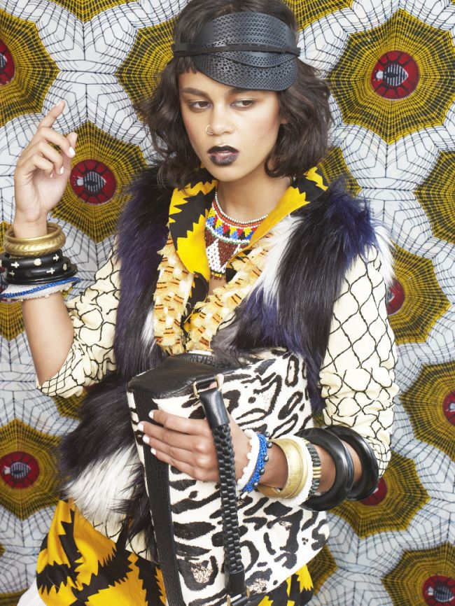 STYLE TRIBES. Graphic Stimulation. Celebrate yourself and the ritual of getting dressed in elaborate textures, graphic prints, haute headwear and big bold jewellery. This rich and vibrant mix is inspired by strong women from cultures all over and will enliven and energise.  This is how we live. x  STYLING Bettina McILwraith. PHOTO Grant Smith MakeUP Vanessa Collins MODEL Elfy Scott
