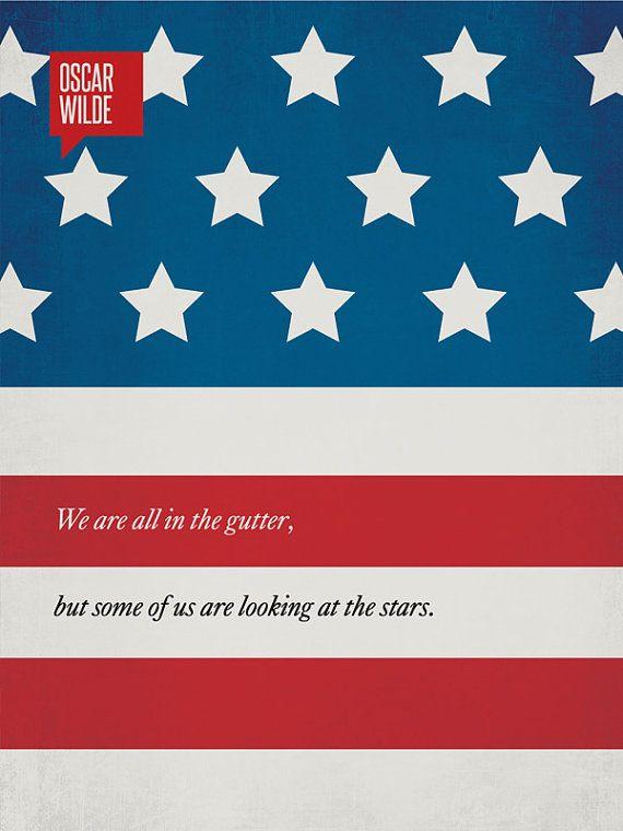 Oscar Wilde quote poster - minimalist design