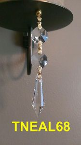 Lot Of 6 Magnetic Teardrop Icicles Udrop Crystal Charms Light For Chandelier Lamp Or Wedding