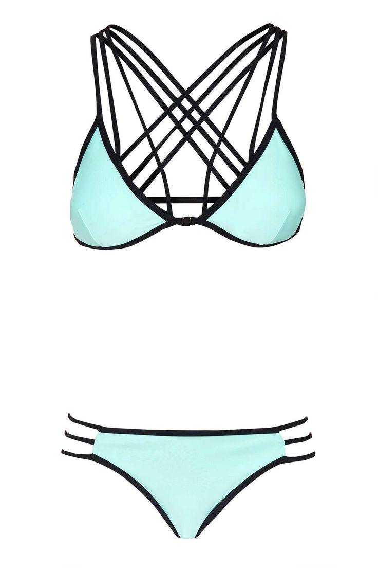Cross Back Triangle Bikini Top and Bottoms - Swimwear - Clothing - Topshop Europe