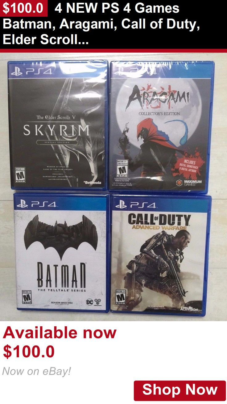 wholesale Games: 4 New Ps 4 Games Batman, Aragami, Call Of Duty, Elder Scrolls V Skyrim BUY IT NOW ONLY: $100.0