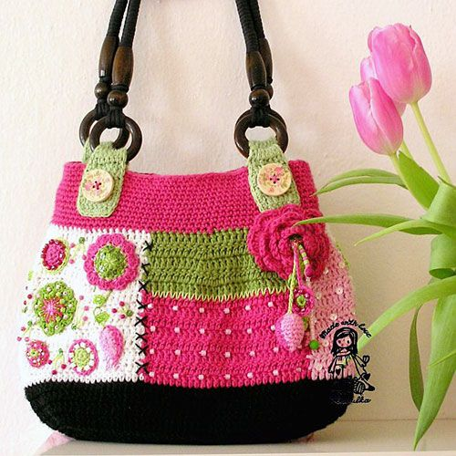 Gently Love Bag Crochet Pattern - http://pinterest.com/Allcrochet