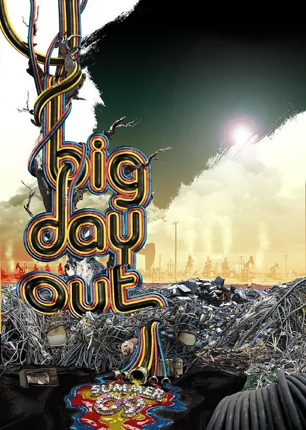 Big Day Out gig poster 2009