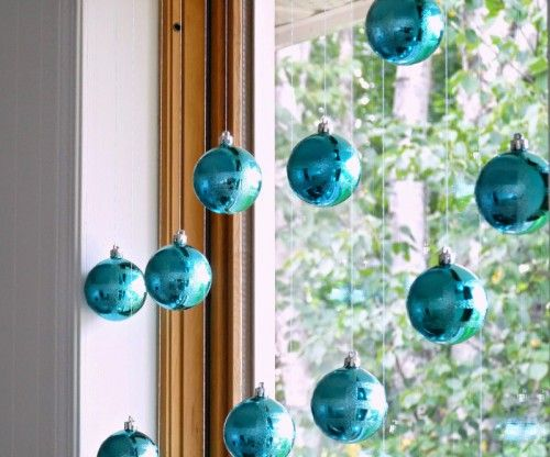 22 best christmas images on pinterest christmas decor christmas hang ornaments above the window or attach them to the banister and have yourself a little christmas solutioingenieria Gallery