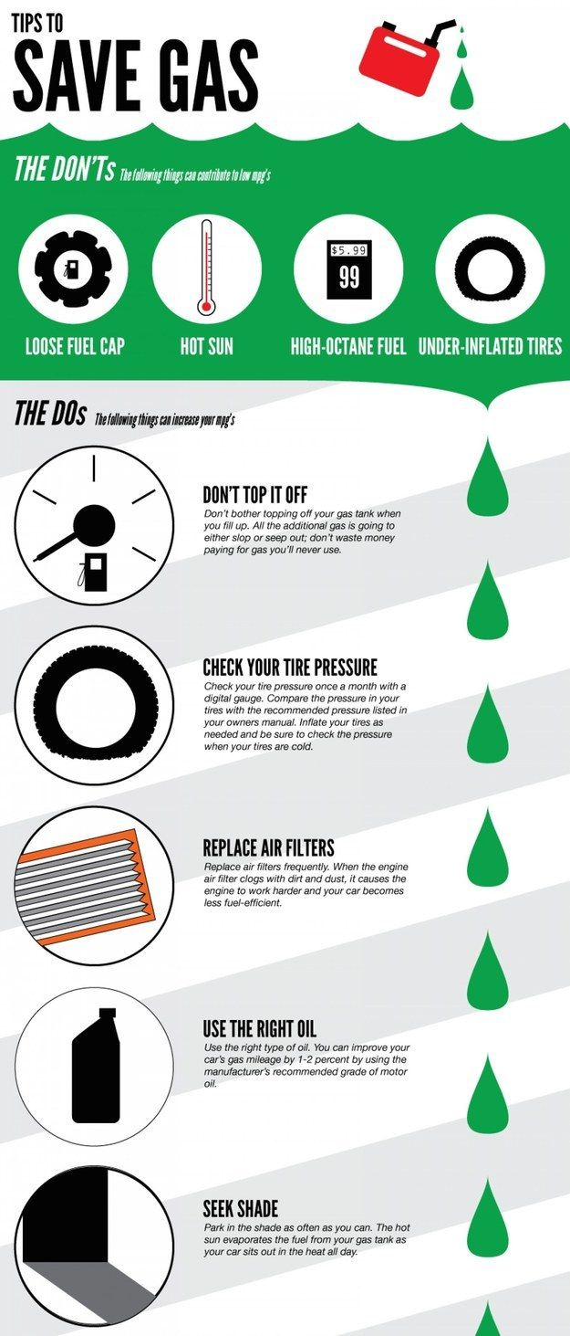 Save Green: How to use less gas.