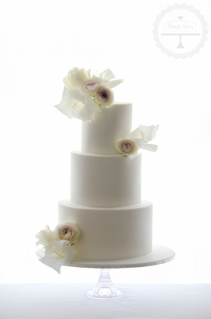 Our beautiful and delicious wedding cake made by Sweet Love Cake Couture - Elegant cake with old world blooms