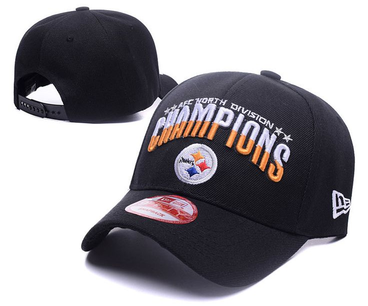 Men's / Women's Pittsburgh Steelers 2016 AFC North Division Championship Baseball Adjustable Hat - Black