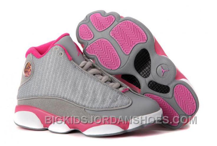 http://www.bigkidsjordanshoes.com/girls-air-jordan-13-retro-gray-pink-white-for-sale-2016-new.html GIRLS AIR JORDAN 13 RETRO GRAY PINK WHITE FOR SALE 2016 NEW Only $88.00 , Free Shipping!