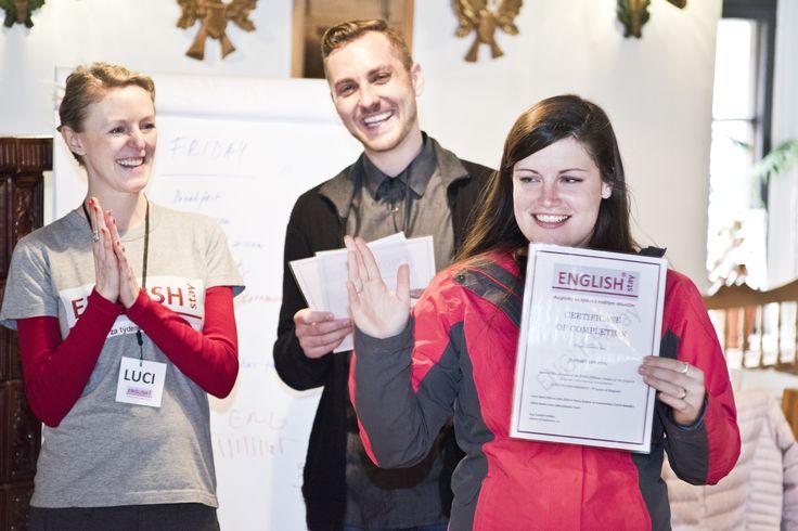 Certificate ceremony.