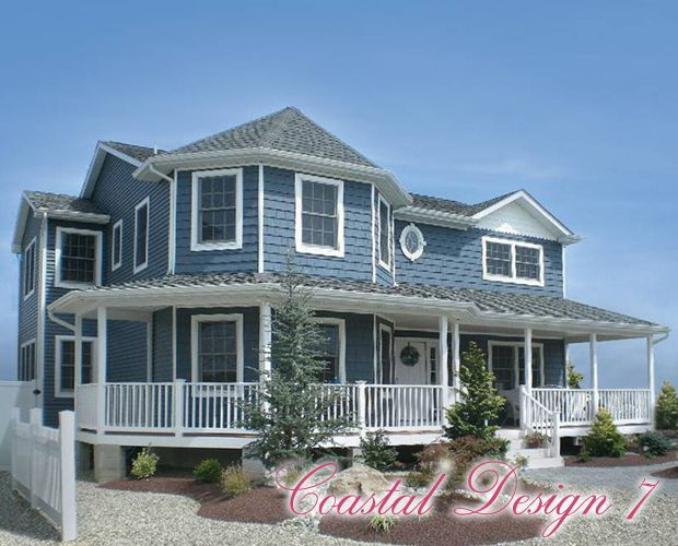 14 best coastal collection gallery of home plans images on for Beach house modular plans