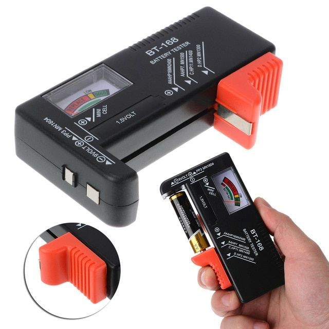 Universal Digital Battery Tester Electronic Battery Volt Checker for AA AAA 9V 1.5V Button Cell Multi Size Voltage Meter BT168