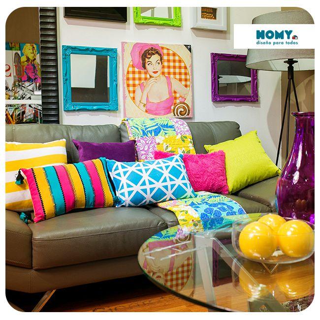 ¡Empápate de colores y texturas! #Homy