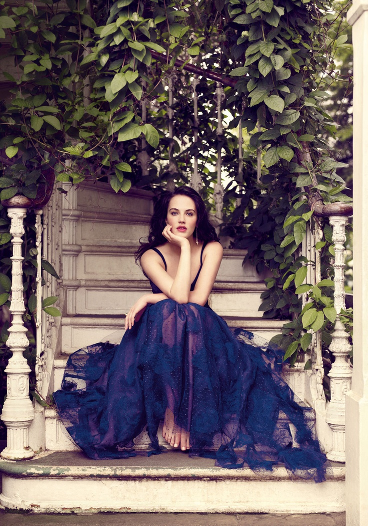 Downton's Jessica Brown-Findlay, photographed by Jason Bell for Vogue. Gown by Valentino.