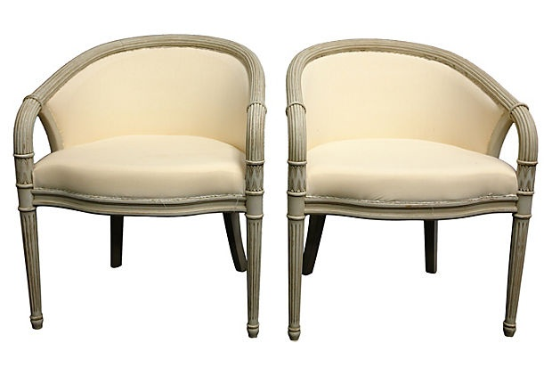 Swedish Bergères chairs, from Lone Ranger Antiques | Take